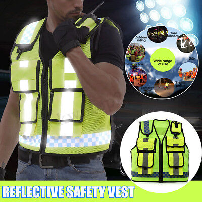 Safety Vest Wear Reflective Driving Jacket Worker Night Security Waistcoat Kit