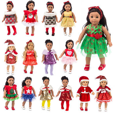 UK Doll Clothes Dress Outfits Pajames For 18 inch