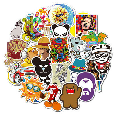 500Pcs Random Skateboard Stickers Bomb Laptop Luggage Decals Dope Sticker Lot