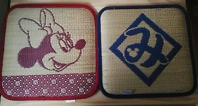 Disney Micky Mouse & Minnie Mouse Tatami Type Cushion Mat x 2