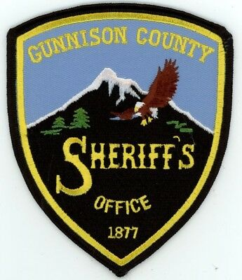 Gunnison County Sheriff Colorado Co Colorful See Below For Great Deal