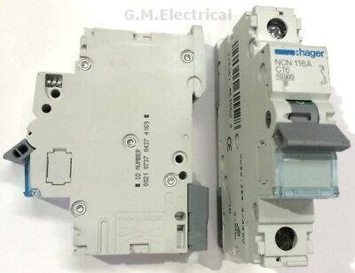 Hager 16 Amp Type C 16A Mcb Circuit Breaker Single Pole Phase Ncn116A 10Ka