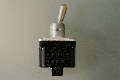 Honeywell MS24523-24 Switch Toggle None OFF ON SPST Round Lever Screw