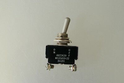 Mil-Spec Eaton Cutler Hammer MS35059-22 / 8822K20 On-OFF Toggle Switch