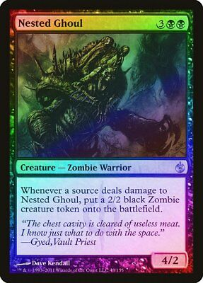 Nested Ghoul FOIL Mirrodin Besieged NM Black Uncommon MAGIC MTG CARD ABUGames