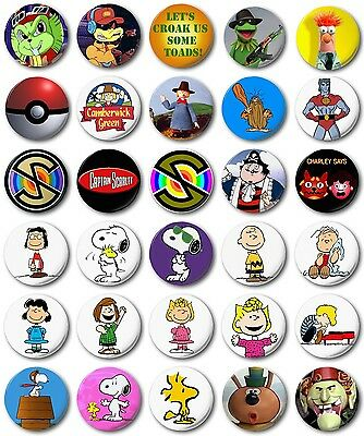 "Kids Retro TV 25mm, 1"" Button Badge, Windy Miller Snoopy"