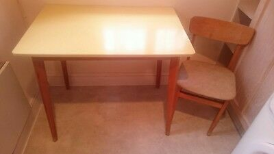 Vintage Mid Century 1950 S Formica Top Kitchen Table With 2 Chairs 19 99 Picclick Uk