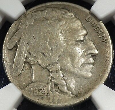 1924-S Buffalo Nickel NGC graded VF25