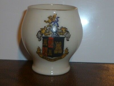 WH GOSS Crested China Model of The Famous Colchester Vase. Crest of Brentwood