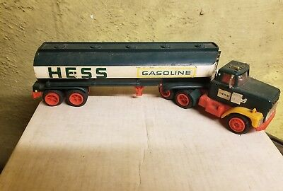 Vintage 1960's Marx Hess Tanker Trailer Truck Without Box