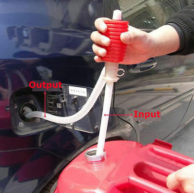 Manual Hand Siphon Syphon Oil Water Diesel Fuel Liquid Transfer Pump Pipe ZJHN