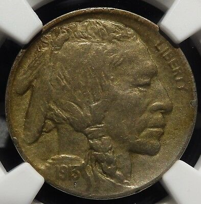 1913-D Type 2 Buffalo Nickel NGC graded XF45