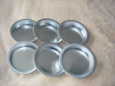 Individual Pie Dishes, Set of 6 TRADITIONAL TIN  4 INCH 10 X 2 CM