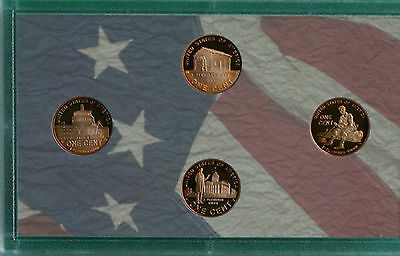 2009 PROOF Lincoln Bicentennial One Cent 4 Coin Toned Copper Penny Coins Pennies