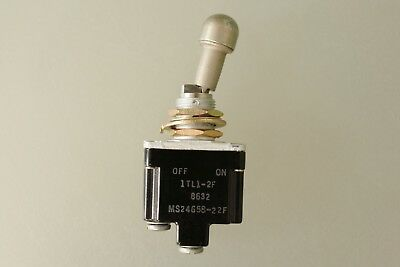 Honeywell - MS24658-22F - Locking Toggle Switch, TL Series, Single Pole