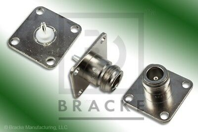 Bird 43 Wattmeter QC Connectors 4240-062 N Female With Screw On Covers 1