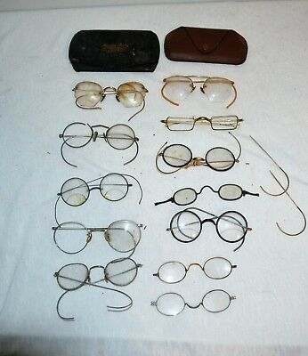 Lot Antique and Vintage Eye Glasses and Parts