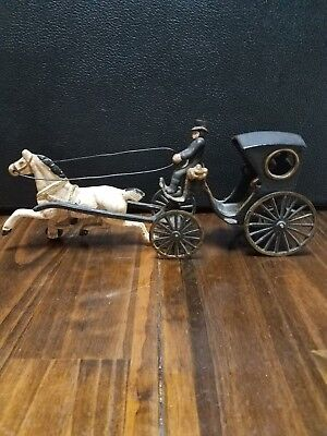 Antique Cast Iron Horse And Buggy