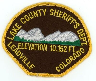 Lake County Sheriff Colorado Co Colorful Style #2 See Below For Great Deal