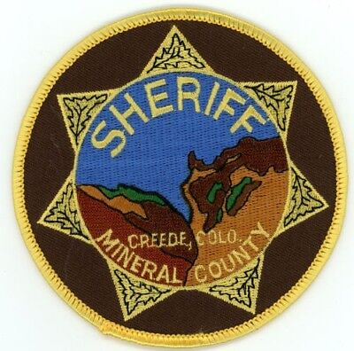 Mineral County Sheriff Colorado Co Colorful See Below For Great Deal