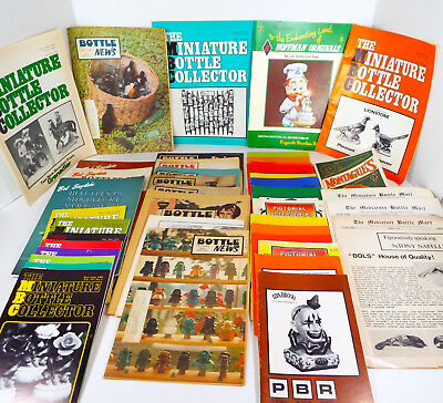MINIATURE LIQUOR BOTTLE Collector Reference Books Magazines 43 Pc Lot 1969-