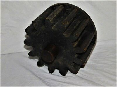 Antique Wood Mold Foundry Pattern Machinery Wooden Gear Cog Wheel