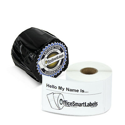 "30857 Dymo Compatible Name Tag Badge Multi Adhesive Labels (2.25"" x 4"", 4 Rolls)"