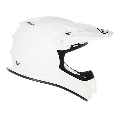 Suomy Mr Jump Gloss White Mx Helmet - Acu Gold Stamped Approved - Su/Mr-White