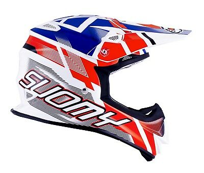 Suomy Mr Jump Special Mx Helmet - Acu Gold Stamped Approved - Su/Mr-Sp-Wh/Rd
