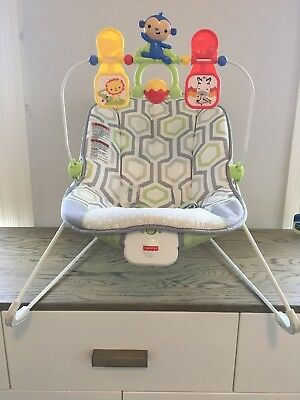 Fisher Price CMR17 Baby Bouncer Geo Meadow Swing Seat Adjustable Restraint Calm