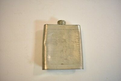 Nice Vintage Decorated English Pewter Sheffield England - Drinking Flask Yeoman