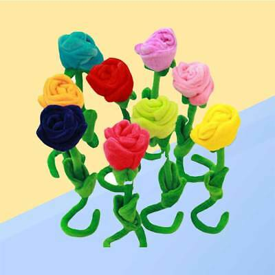 Plush Flower Toy Soft Colorful Bendable Stems Creative Flower Toy Rose Flower