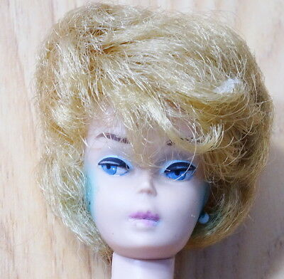 Vintage Blonde Bubble Cut Barbie Doll with Pink Lips