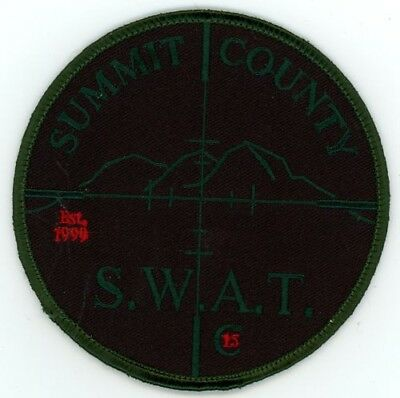 Summit County Sheriff Colorado Co Subdued Swat Style #2 See Below For Great Deal