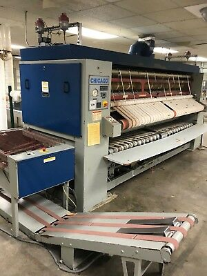 Chicago Tri Star Ironer With Folder And Stacker Milnor Washers Whole Lot