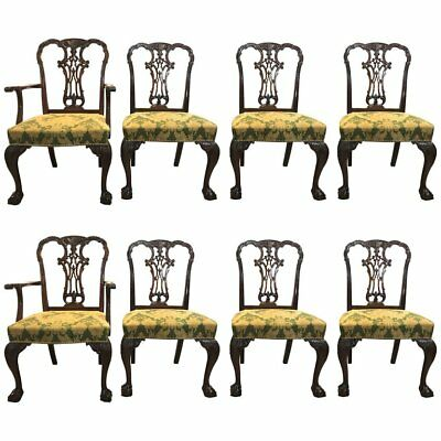 Set of Eight Georgian Style Mahogany Dining Chairs by Schmieg & Kotzian 101-2860