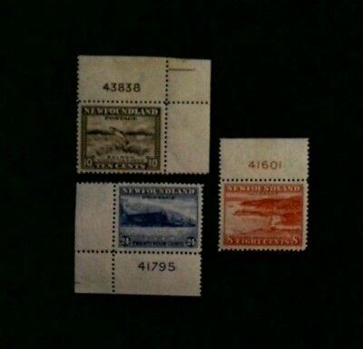 Newfoundland Stamp Plate Numbers  MH