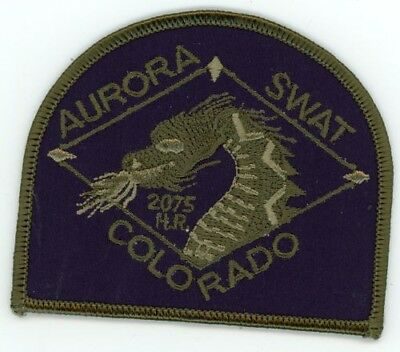 Aurora Police Colorado Co Swat Subdued Style #1 See Below For Great Deal