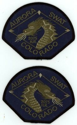 Aurora Police Colorado Co Swat Subdued Mirrored Set See Below For Great Deal