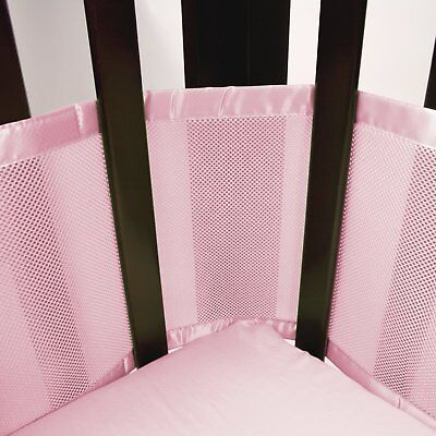 Breathable Baby Mesh Crib Liner - Pink - Free Shipping