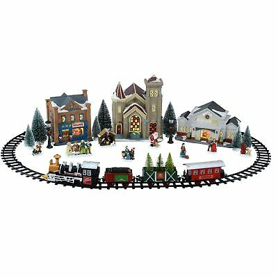 Holiday Time Battery Operated Christmas Train Set (Village NOT included)