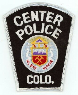 Center Police Colorado Co Style #1 See Below For Great Deal