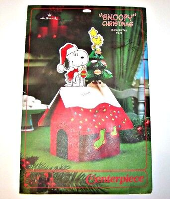 Vintage Hallmark Peanuts Snoopy Woodstock Honeycomb Centerpiece New In Package