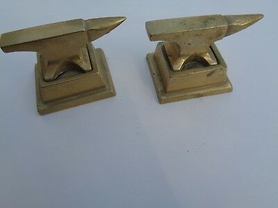 Two Small Brass Anvils (Vintage)