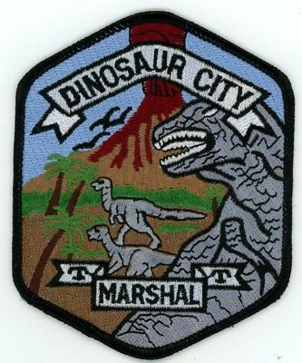 Dinosaur City Marshal Colorado Co Police Colorful See Below For Great Deal
