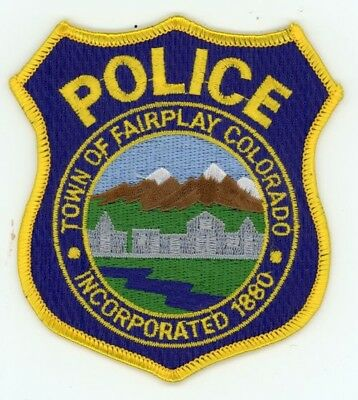 Fairplay Colorado Co Police Colorful Style #2 See Below For Great Deal
