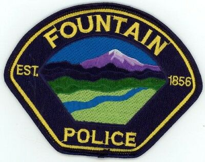 Fountain Colorado Co Police Colorful See Below For Great Deal