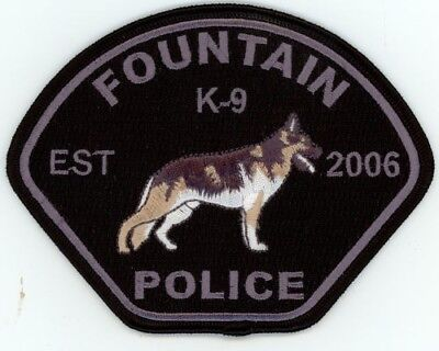 Fountain Colorado Co Police K-9 Colorful See Below For Great Deal