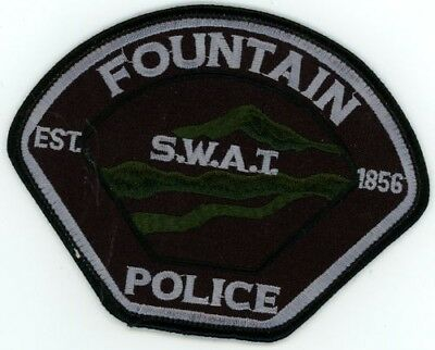 Fountain Colorado Co Police Swat Colorful See Below For Great Deal