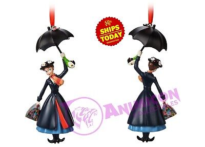 Disney Store MARY POPPINS with Umbrella Sketchbook Ornament Parks Christmas 2018